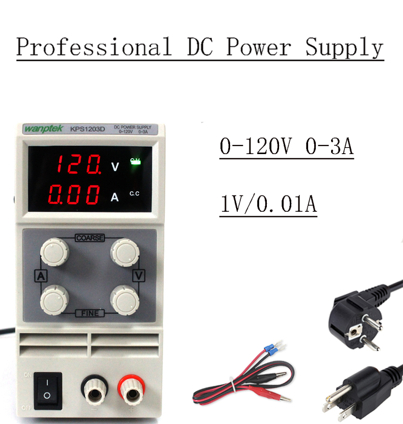 KPS1203d 01D 02D Adjustable High precision digital LED display switch DC Power Supply 120V1a 2A 3A
