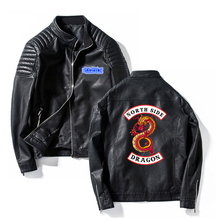 Southside Riverdale Stand collar Leather Jackets Serpents Men Riverdale Streetwear Leather Brand south side serpents