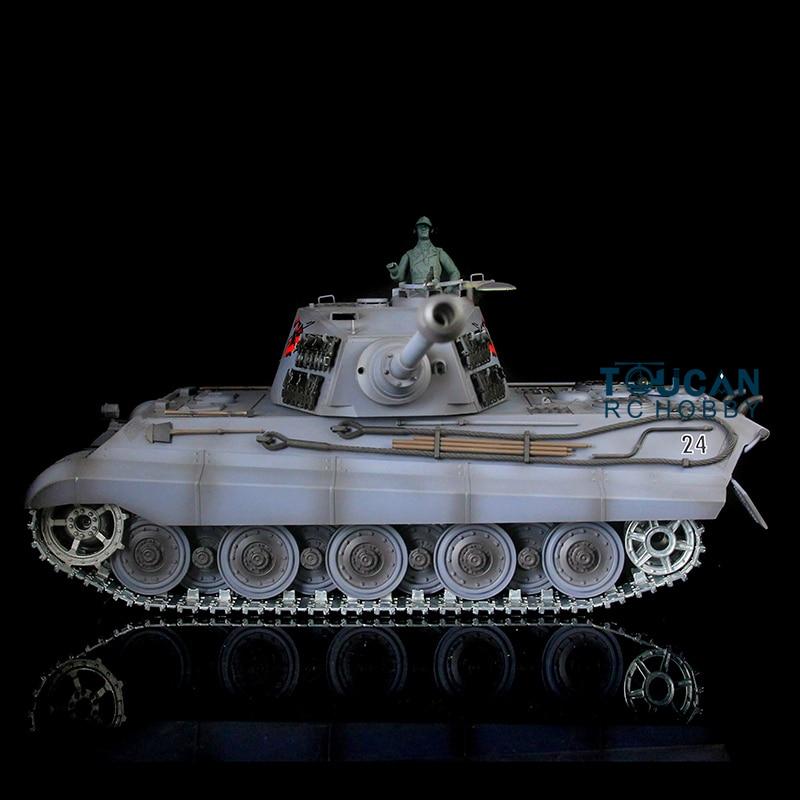 Henglong 1 16 Scale Deep Green British Challenger II RTR RC Tank Metal Tracks Wheels 360
