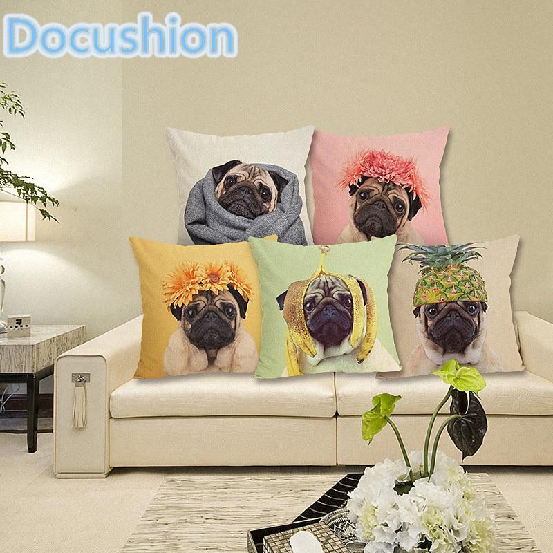 Сладък куче възглавница случай сладък декоративни възглавница покрива за диван хвърлят възглавница кола стол домашен декор възглавница случай almofadas  t