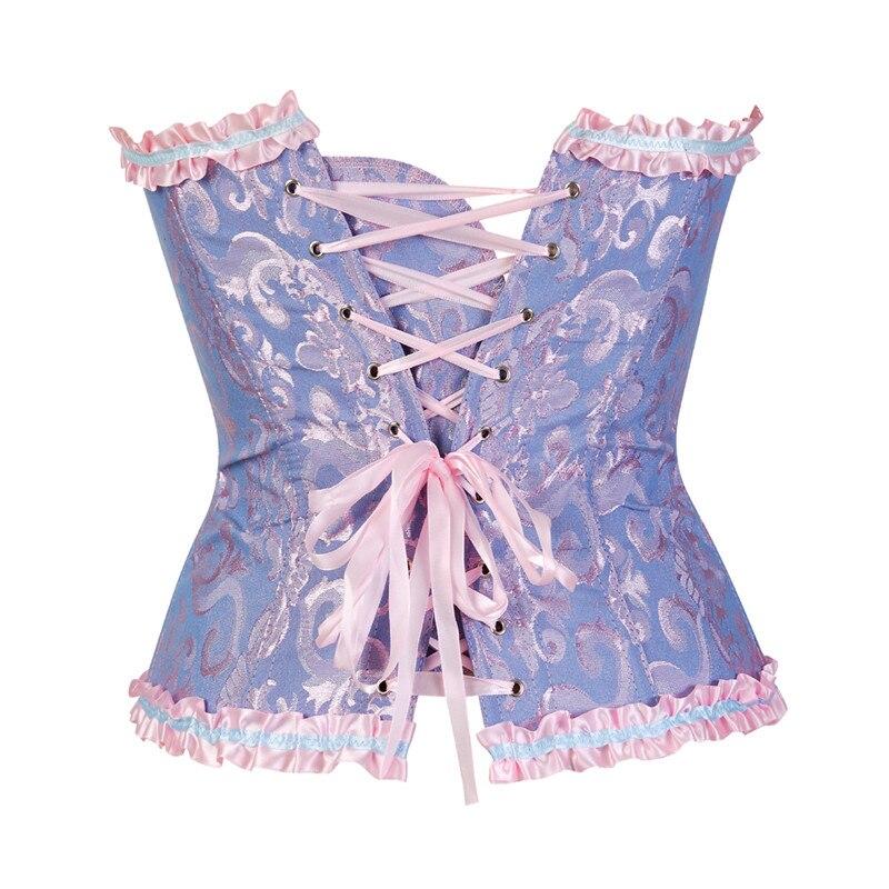Корсеты, кружевные топы с цветочным принтом для женщин, большие размеры, винтажные сексуальные корсеты, готическое сатиновое нижнее белье, ...