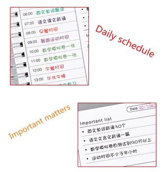 2019 2020 Notebooks Agendas Planner Diary Weekly Spiral Organizer Libretas A5 Note Books Monthly Kraft Paper Schedule Filofax 1