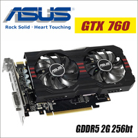 ASUS Video Graphics Card Used Original GTX 760 2GB 256Bit GDDR5 Video Cards For NVIDIA VGA