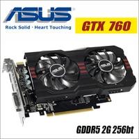 ASUS Video Graphics Card Used Original GTX 760 2GB 256Bit GDDR5 Video Cards For NVIDIA VGA