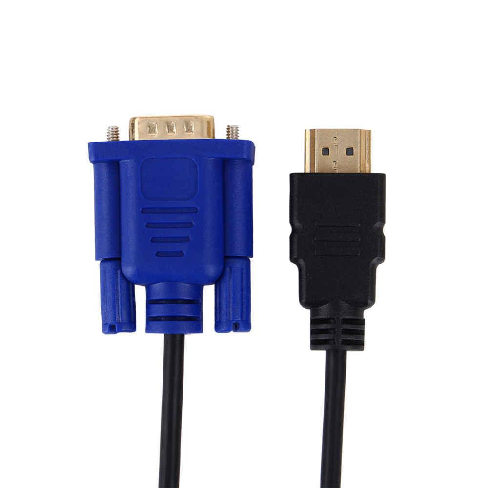 HDMI Zu VGA HD Konverter Kabel Audio Kabel Konverter Männlich Zu Weiblich 10,2 GB/S PVC HDMI Stecker Auf VGA 15 pin 1,8 m Für PC Laptop TV