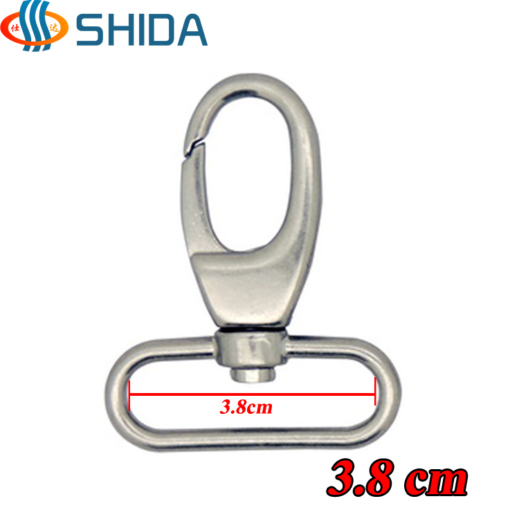 "10pcs 38mm 1-1/2"" Silver And Gold Zinc Alloy Hook Buckle For Bags, Backpack And Handbag Hardwares Handmade Accessories Mild And Mellow"