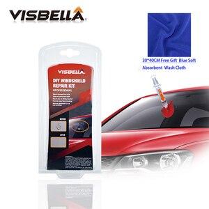 VISBELLA Car Windscreen Glass Repair Kit DIY Windshield Restoration for Window Polishing Chip Crack Star Bullseye Hand Tool Sets