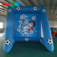 Cheap PVC inflatable soccer goal/inflatable football goal/inflatable soccer target for sale