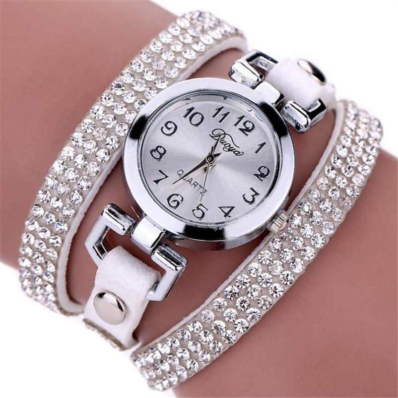 High Quality women fashion casual watch luxury dress ladies Leather Band Analog Quartz Wrist Watch clock Montre femme O10 (1)