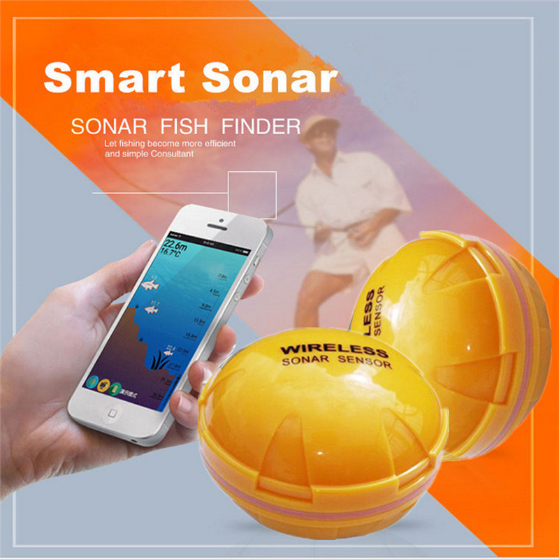 2018 New 30m Distance Wireless Sonar Fish Finder Sea Lake Fish Detect For Smartphone Fish Finder For Lake Sea Fishing Finder M20 chinese version of the high precision sonar fish finder to find fish finder visual muddy water available measuring fish finder f