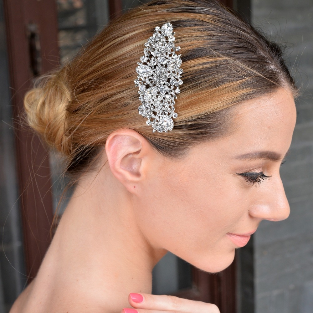 Wedding Vintage Style Hair Accessories: Bella Fashion Hair Jewelry Vintage Style Flower Hair Comb