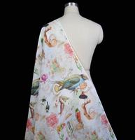 Peach Yingti Digital Printing Silk Fabrics Silk Linen Fabrics Of Flax