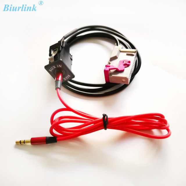 Biurlink Car DVD Navigation RNS E AUX IN Slot Aux Adapter Pin - Audi rns e