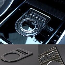 Para jaguar xe x760 xf x260 F-PACE x761 console central botão de engrenagem decorativo adesivo fibra carbono alavanca do deslocamento carro guarnição capa