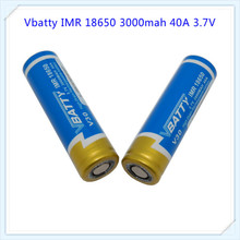 Vbatty 1PCS 100% Original New  18650 3000 mAh Rechargeable battery 3.7V IMR1865025 40A discharge electronic cigarette use