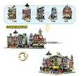 Decool 1105-1109 mini 5 de la ciudad en 1 serie de la ciudad floristería/guildhall/minis juegos de bloques de construcción juguetes para niños leping