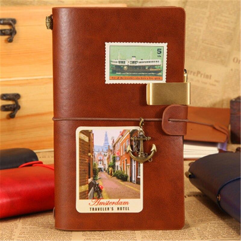 Vintage pu Cahier Journal Voyage Journal Planificateur Planificateur 2017 Note Pour Midori Journal En Cuir Vintage Journal Personnel Papeterie