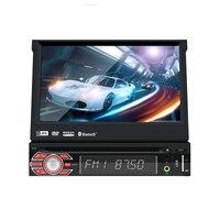 single 1din 7inch touchscreen Car GPS FM Radio Stereo head unit Media Player BT USB SD RDS SWC MIC