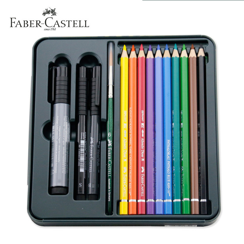 Faber-Castell Mixed Media Set Includes Albrecht Durer Pencils//Pitt Artist Pens
