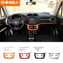 SHINEKA-Panel de aire acondicionado Interior para coche, accesorios de decoración, pegatinas para Jeep Renegade, 2018 +