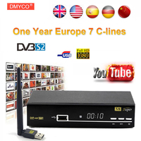 1 Year CCCAM Europe V8 Super DVB S2 Satellite Receiver Decoder Better Than Openbox Supported Full