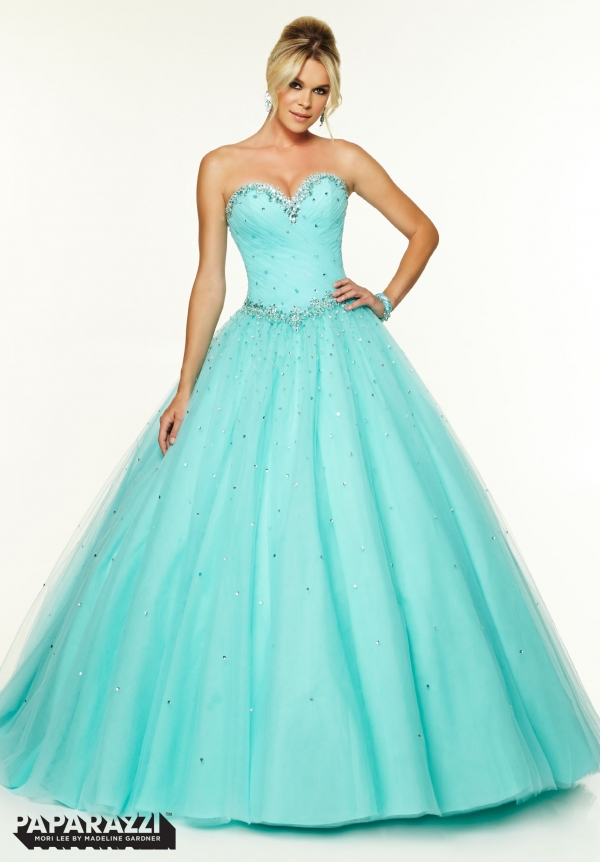 Latest Design Princess Ball Gown Cheap Prom Dresses 2015