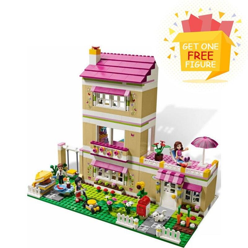 Bela Pogo Compatible Legoe Friends 695pcs Oliver's House And Oliver Education Girls Building Blocks Bricks toys for children lepin pogo bela bl10497 girls friends building blocks bricks compatible legoe toys