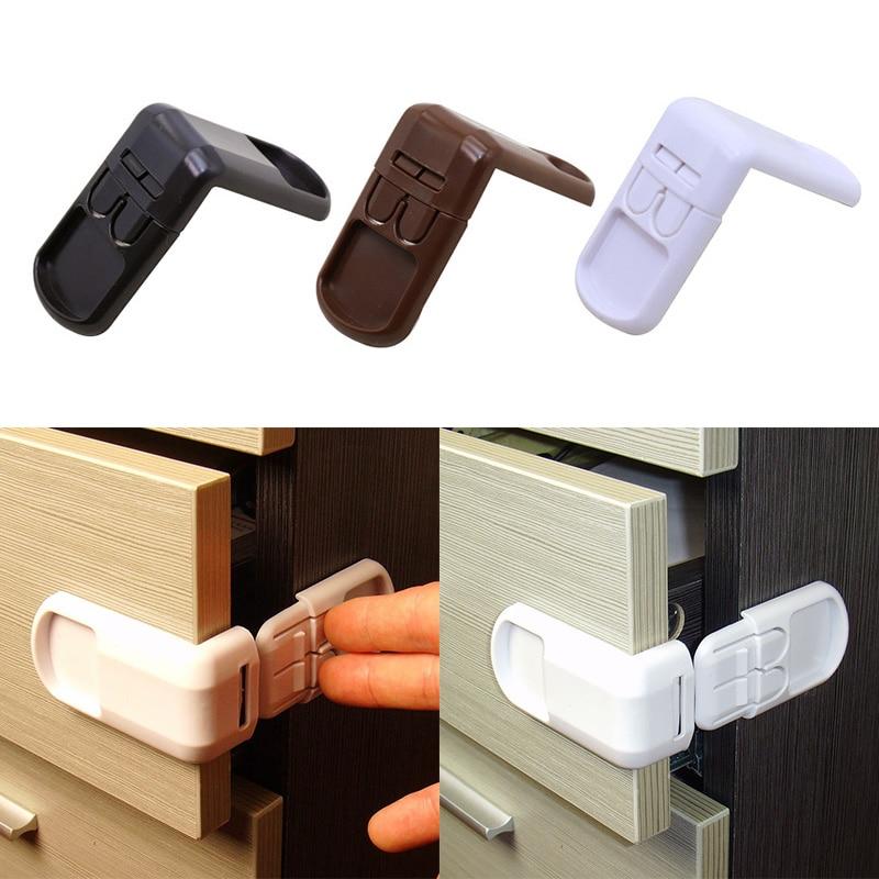 4 PCS/Set New Baby Child Safety Lock Double Snap Fastener Drawer Cabinet Door Locks