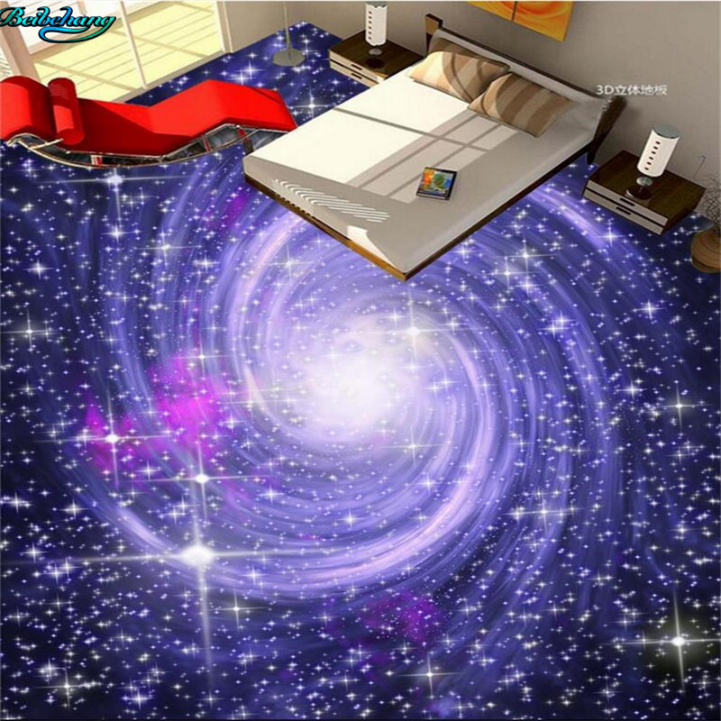 Beibehang Large Custom Flooring Cosmic Starry Galaxy 3d Living Room Bedroom Kitchen Bathroom