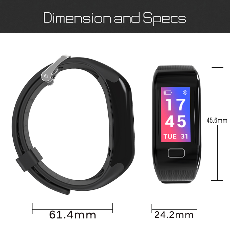 LIGE Women Smart Bracelet Outdoor Fitness Blood Pressure Oxygen Monitor Latest Luxury IP67 Waterproof Men Smart wristband watch in Smart Wristbands from Consumer Electronics