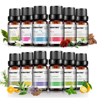 10ml Pure Essential Oils Set for Aromatherapy Diffusers Lavender Tea tree Lemongrass Orange Rosemary Oil Fresh Air Home Care