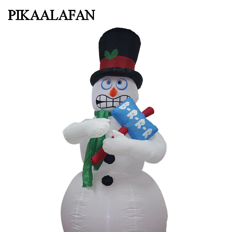 PIKAALAFAN Christmas Courtyard Decoration Gifts Large Inflatable Toys Christmas Snowman Model Santa Claus Inflatable Model free shipping christmas inflatable snowman model decorative 4 meters high blow up snowman replica for event party toys