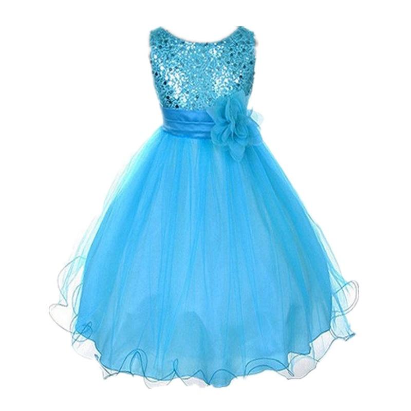 2018 Baby girls clothing Wedding Party Dress Sleeveless Newborn children Princess Dress