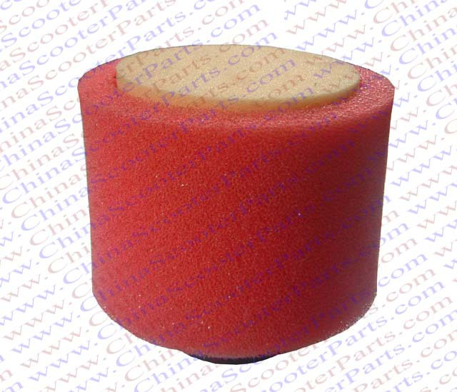 2PCS 44MM Sponge Straight Adapter Air filter Red Core Red Coat Mini Moto Dirt Pit Bike ATV Quad Scooter Buggy Parts