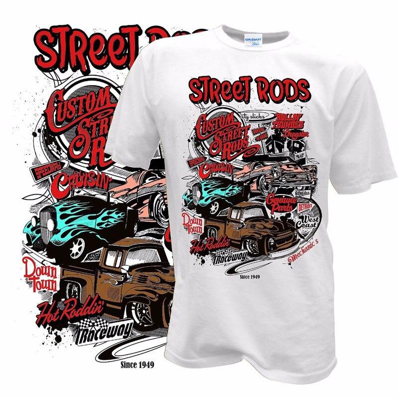 V8 Ford T Custom Racer Drag Kustom Kulture Built For Speed T-shirt HOT ROD