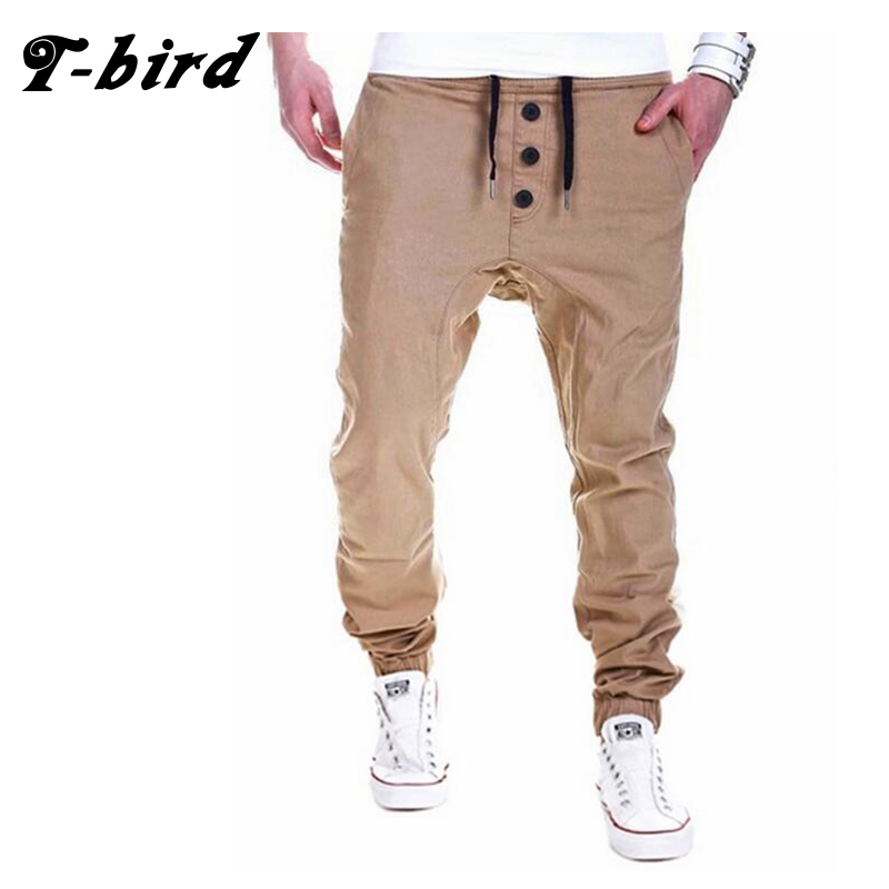 T-Bird New Fashion 2017 Joggers Men Brand Elastic Tether Sweatpants Male Compression Pants Casual Tactical Pants Mens Calabasas