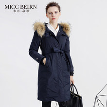 2016 new hot winter Thicken Warm woman Down jacket Coats Parkas Outerwear Hooded Raccoon Fur collar long plus size Slim Cold