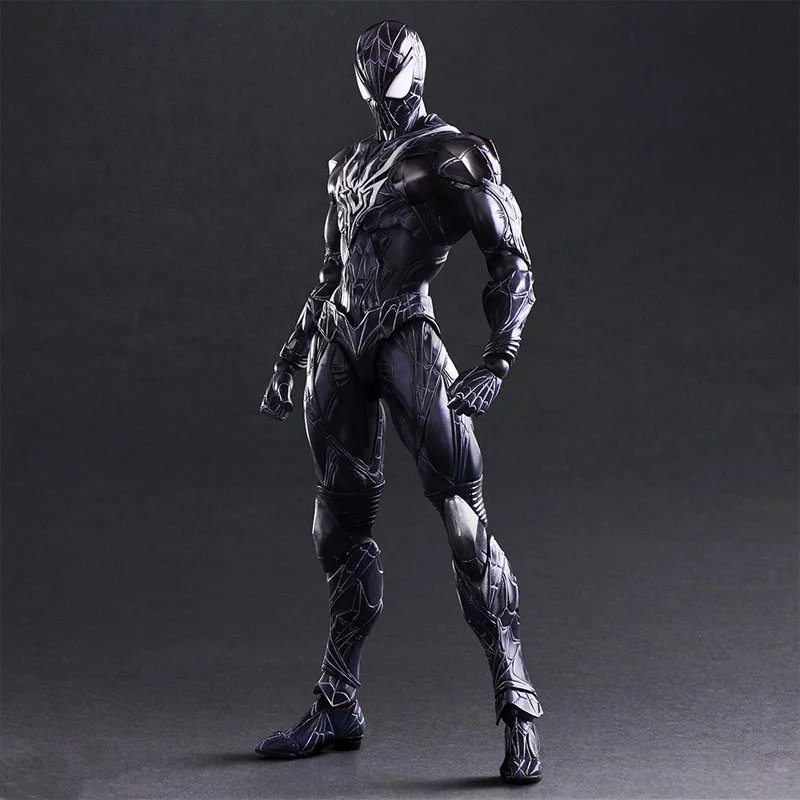 Variant PLAY ARTS KAI Spiderman Figure Anime The Amazing Spider-Man PVC Action Figure Collectible Model Kids Toys Doll 27cm huong anime figure 28 cm square enix variant play arts spiderman spider man pvc action figure collectible model toy brinquedos