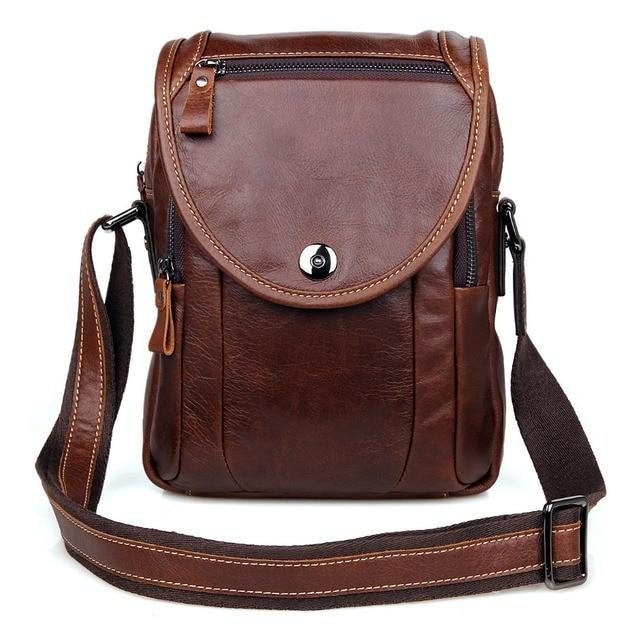 dfa4d6ebfdd J.M.D Genuine Leather Men s Messenger Bag Small Shoulder Courier Bag Sling  Bag 7354LC