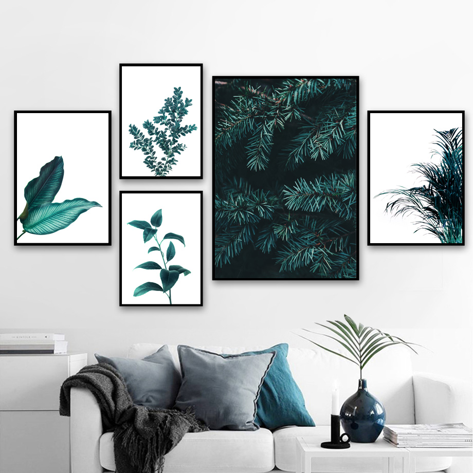 Pine Leaves Cactus Dandelion Botanical Prints Wall Art Canvas Painting Nordic Posters And Prints Wall Pictures For Living Room-in Painting & Calligraphy from Home & Garden