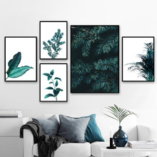 Pine Leaves Cactus Dandelion Botanical Prints Wall Art Canvas Painting Nordic Posters And Prints Wall Pictures For Living Room
