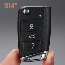 3 Button Black Car Remote Control Flip Folding Key Replacement Shell Suit For Volkswagen Lamando Golf Skoda Octavia