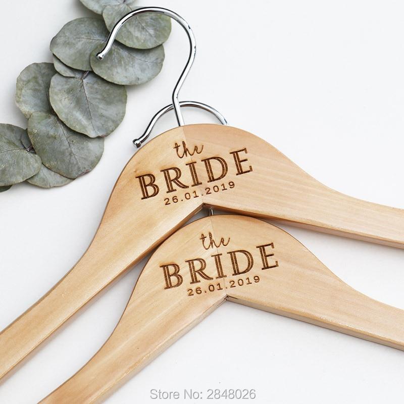 Personalized Engraved Bride Groom Wooden Wedding Dress Hangers Hen Parties Bridal Shower Gift Mr Mrs Hanger Wedding Decor Party Diy Decorations Aliexpress