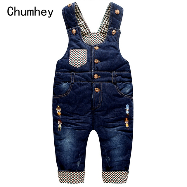 87071c25713b Top Quality 6m- 3Years Winter Warm Velvet Jeans Overalls Infant Long Pants  Baby Toddler Girls Boys jumpsuit Rompers 1870
