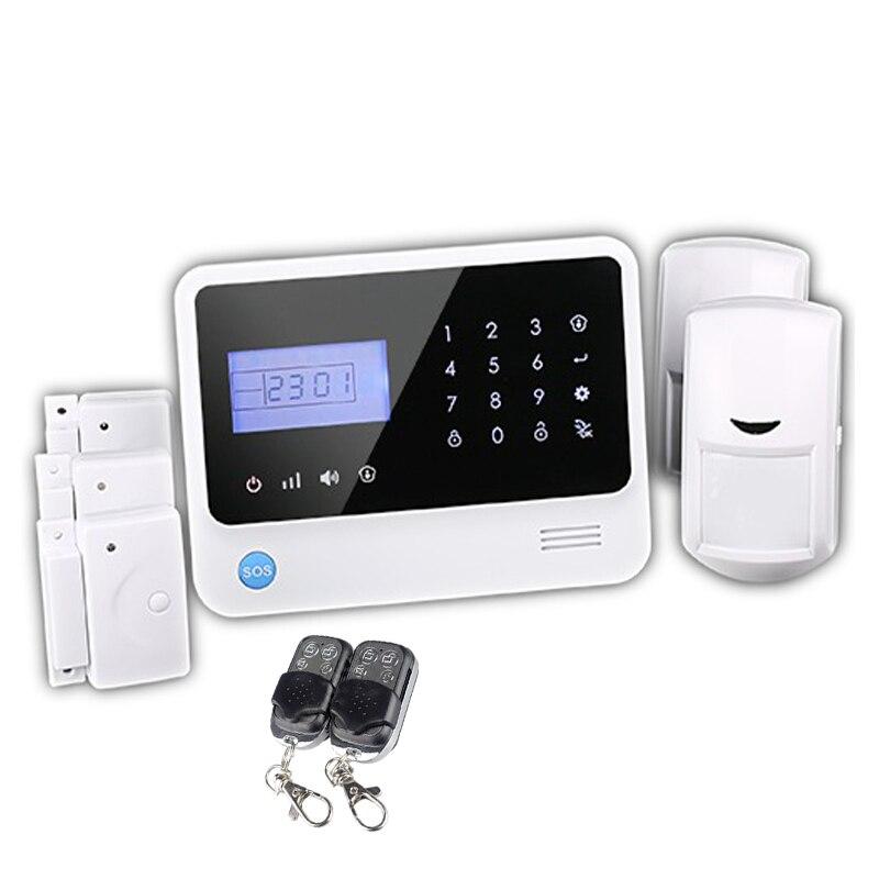 433 mhz Wifi GSM système d'alarme systèmes d'alarme de sécurité à domicile avec clavier LCD nouveau PIR capteur alarme mobile APP système d'alarme de contrôle