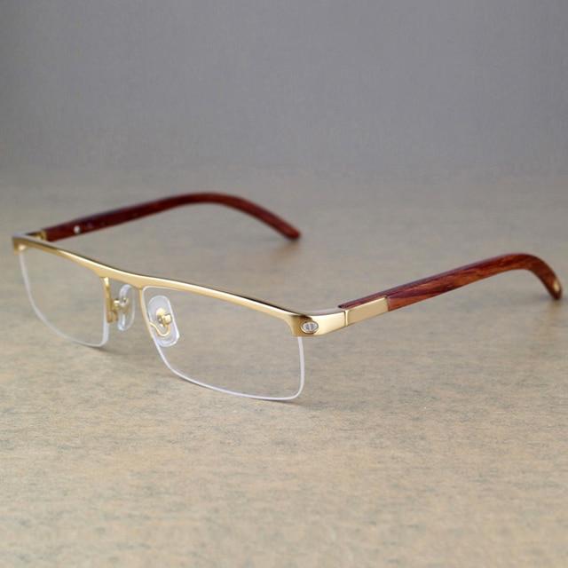 Carter Óculos de marca Homens Designer de armações de Óculos de madeira de  Madeira do vintage bf0743b51d