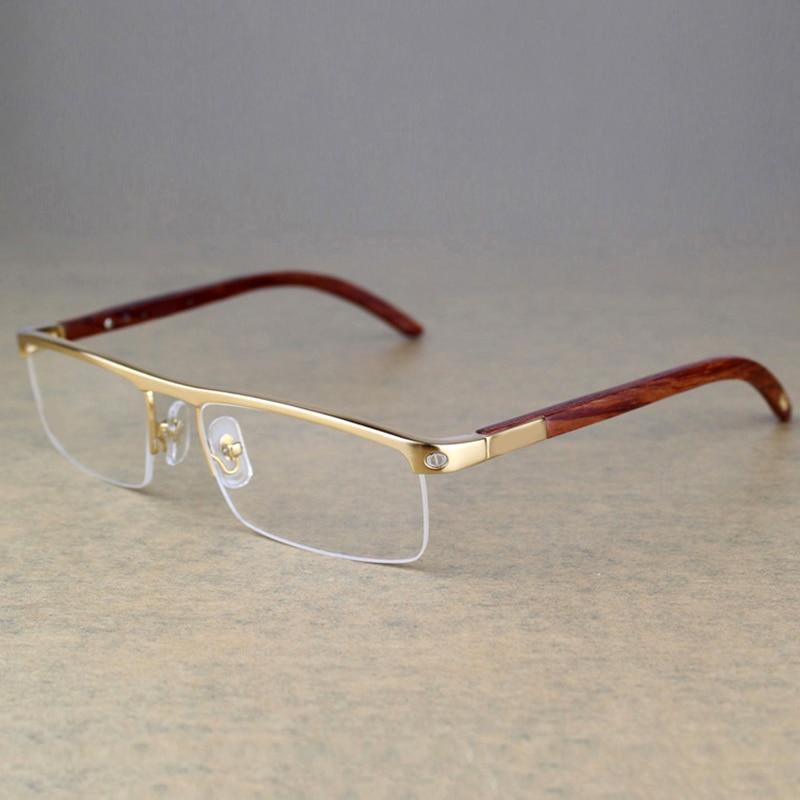 Carter lunettes en bois Vintage hommes   Lunettes de styliste de marque, cadres de lunettes hommes femmes, monture de lunettes de lecture 369