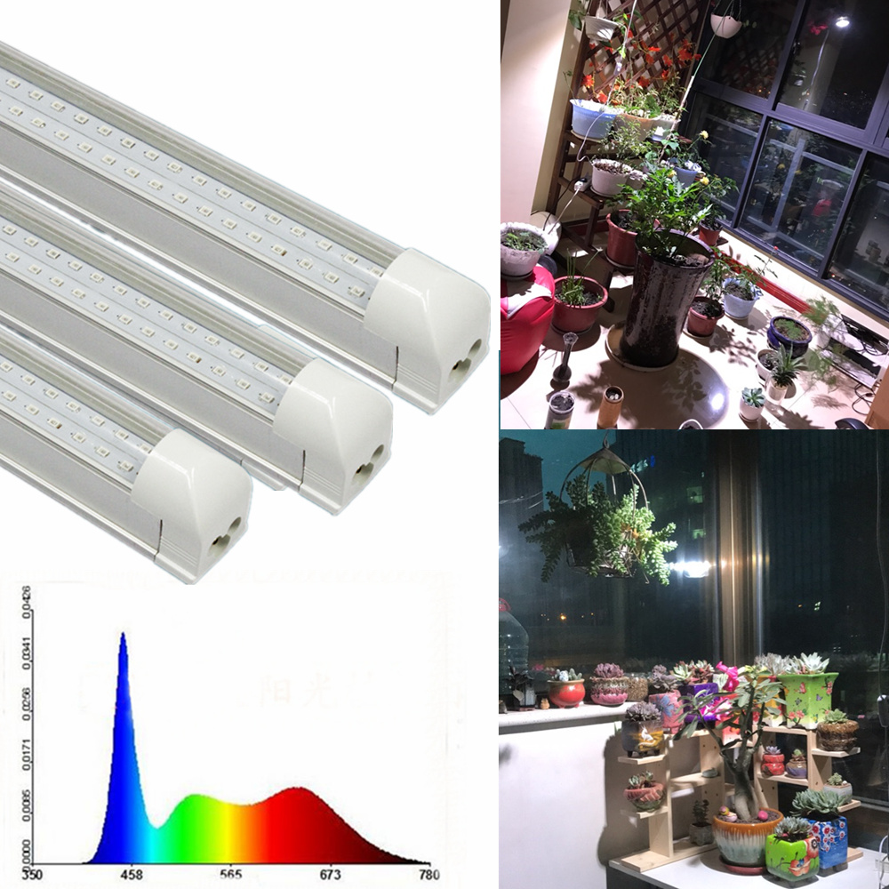 T8 White 600MM 20W  40W Full Spectrum In White Greenhouse Hydrophilous Plant Professional Led Grow Lights For Indoor Plants