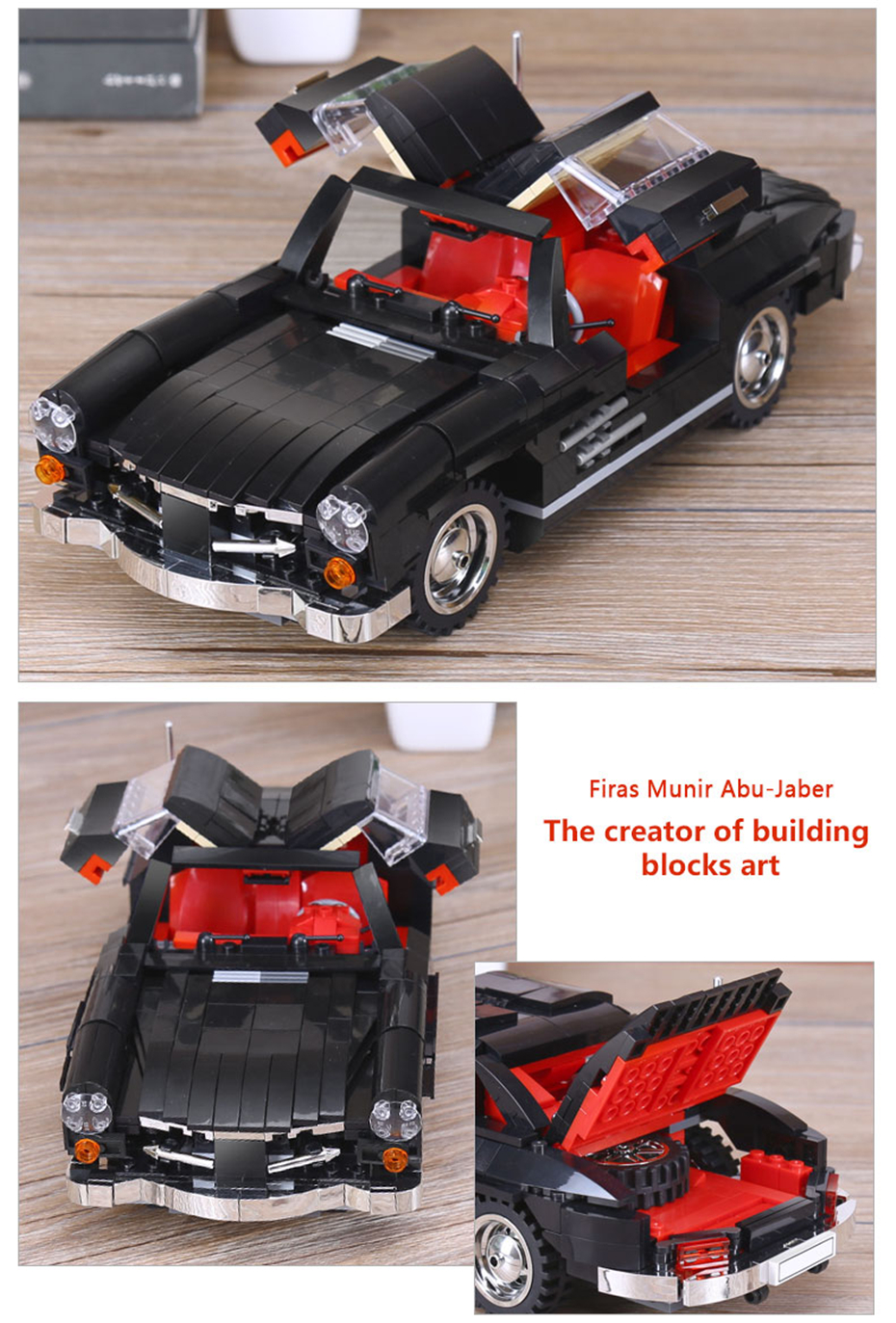 XINGBAO XB-03010 Mercedes Benz 300 SL PHOTIPONG Building Block 19