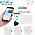 Broadlink tc2 eua/au padrão 1 2 3 gang de automação residencial wi-fi interruptor de luz 110-240 v painel de toque de controle remoto by rm2 rm pro